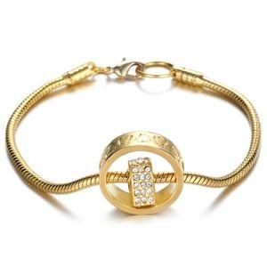 14K♠️+ Swarovski® Diamonds Heart w/Circle Bracelet
